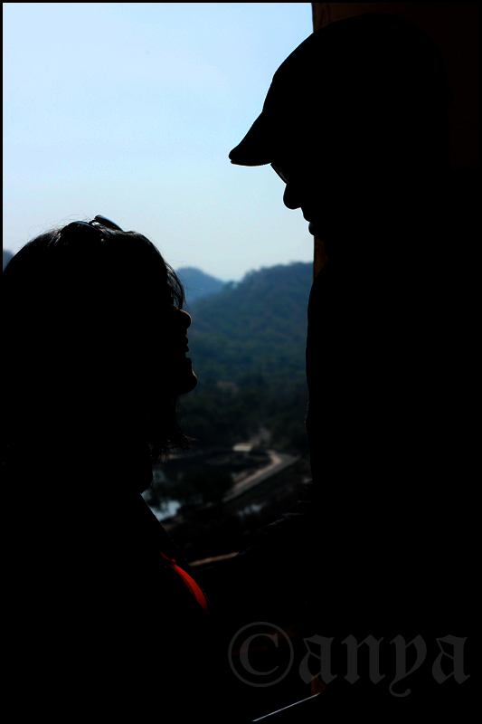 Silhouette of smiles
